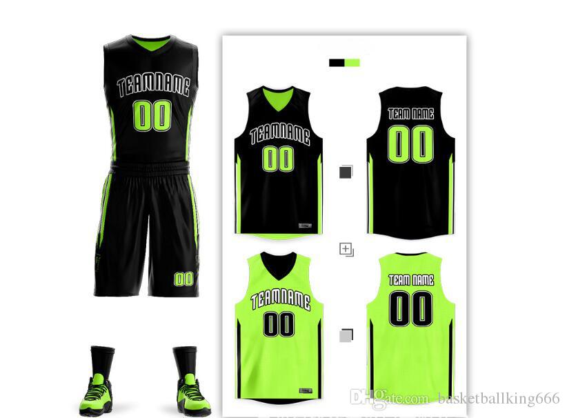 Free Custom basketball Jersey basketball uniform suits both sides of the double-sided wear, quick-drying sweat-absorbent basketball uniforms