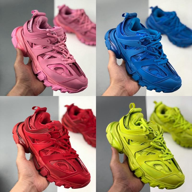 Track Top qualidade 3,0 Gomma Maille Tess S Paris Triple S Sapatilha Casual Mulheres Homens Formadores rosa azul des Chaussures Zapatos