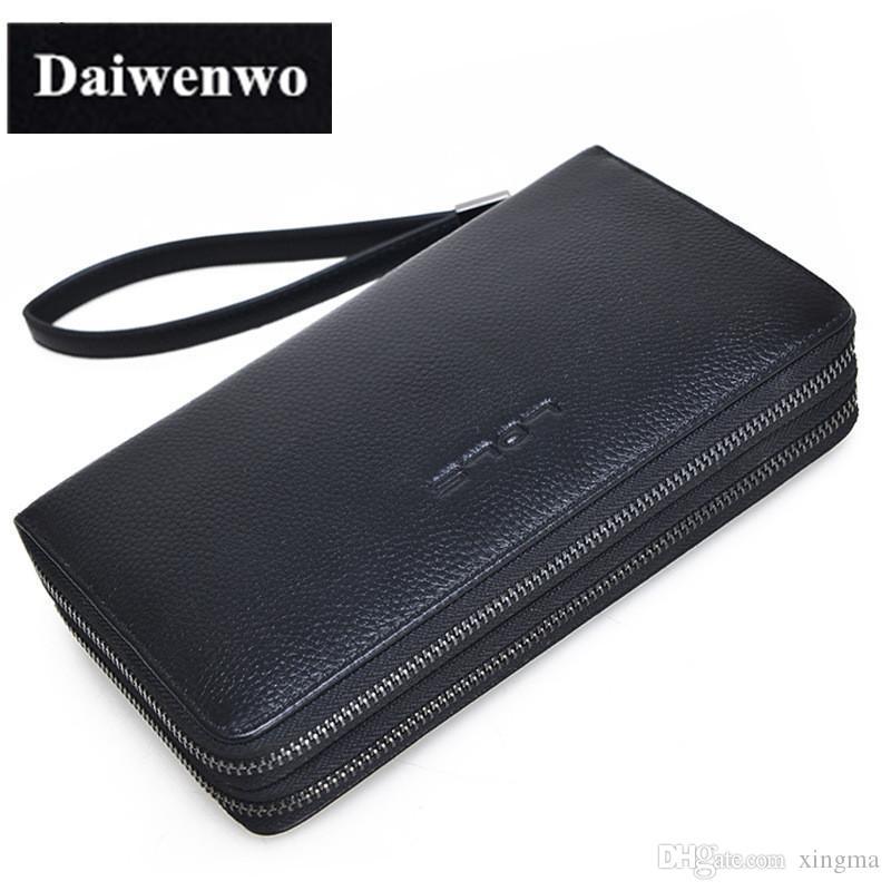 M37 Berühmte Marke Doppel Reißverschluss Aus Echtem Leder Geldbörse Für Männer Kupplung Brieftaschen Kartenhalter Geldbörse herren Brieftasche Taschen Männlichen Handba