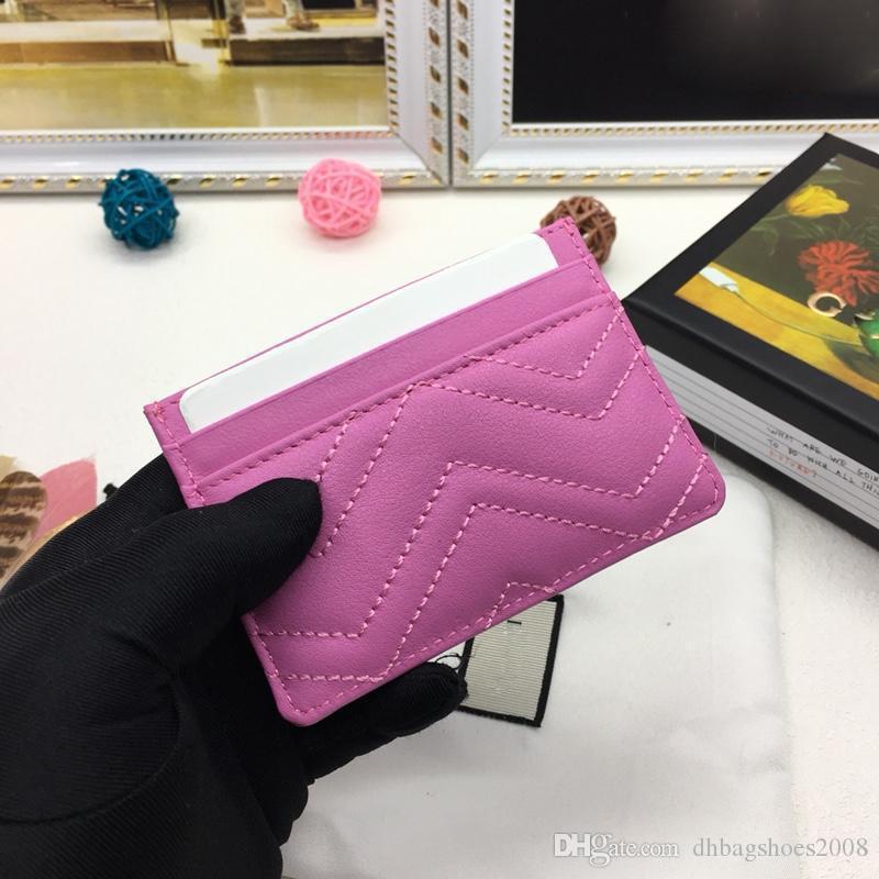 superiori di marca di uomini e donne calde del progettista gli uomini dei raccoglitori del supporto di cuoio reale del quadrato portafogli in pelle di lusso borsa carta con box