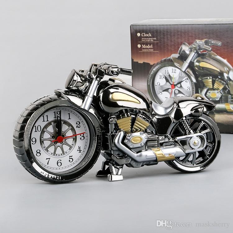 Yeni varış Arkadaş Doğum Günü Partisi Hediye İğne, Yaratıcı Retro çalar saat Motosiklet modeli çalar saat ücretsiz kargo büyük bir hediye