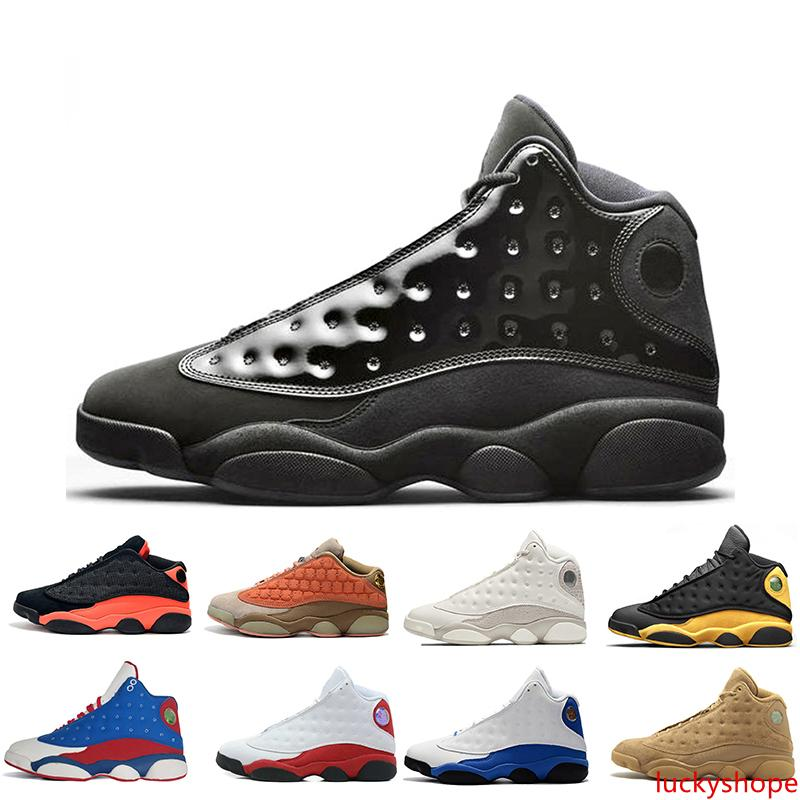 13 13s Mens Basketball Shoes Cap And Gown Phantom Chicago GS Hyper Royal Black Cat Flints Bred Brown Wheat DMP mens sports sneakers women