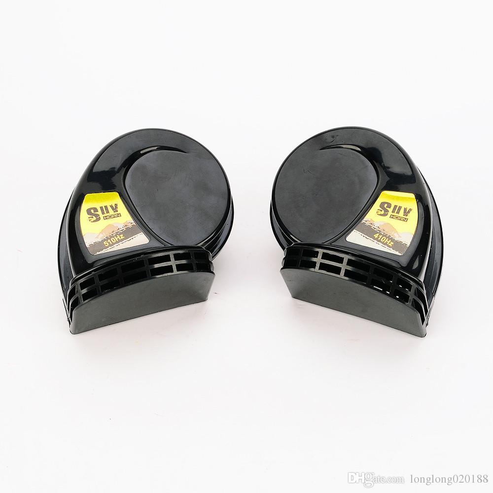 1 pair SUV 1 Treble 1 Bass Super Loud Snail Horn For SUV Air Siren Speeker 12V Car Alarm Sound horn Waterproof