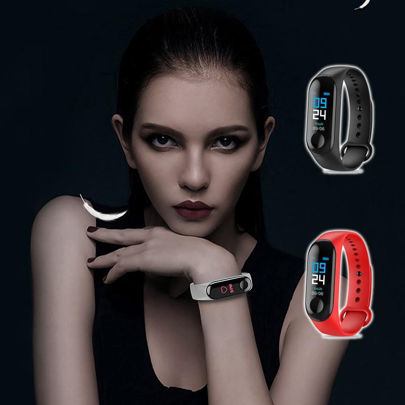 Многофункциональный Смарт Часы Спорт Браслет Смарт цветной экран Водонепроницаемый Bluetooth шагомер браслет Электронный браслет Смарт M3