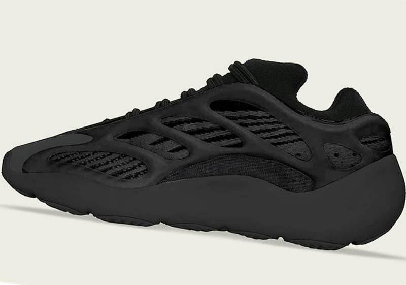 2020 mais novo lançamento Originals 700 V3 Alvah 700S Preto sapatilhas do desenhista 3M reflexiva brilho Running Shoes H67799 Com OG Box EUA 4-12