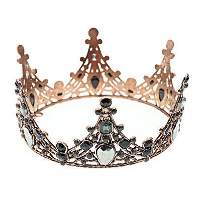 فريدة من نوعها الأسود حجر الراين الزفاف التيجان فاخر الباروك الملكة أغطية الرأس تيارا الشالات العصابة الزفاف مجوهرات 2020 اكسسوارات الزفاف