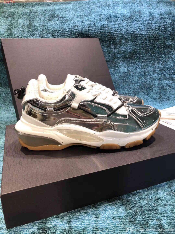 Toz Torbalı erkekler Tasarımcı yeni erkek spor ayakkabısı Boş seyahat ayakkabıları için beyaz ve siyah rugan yüksek kaliteli rahat ayakkabı