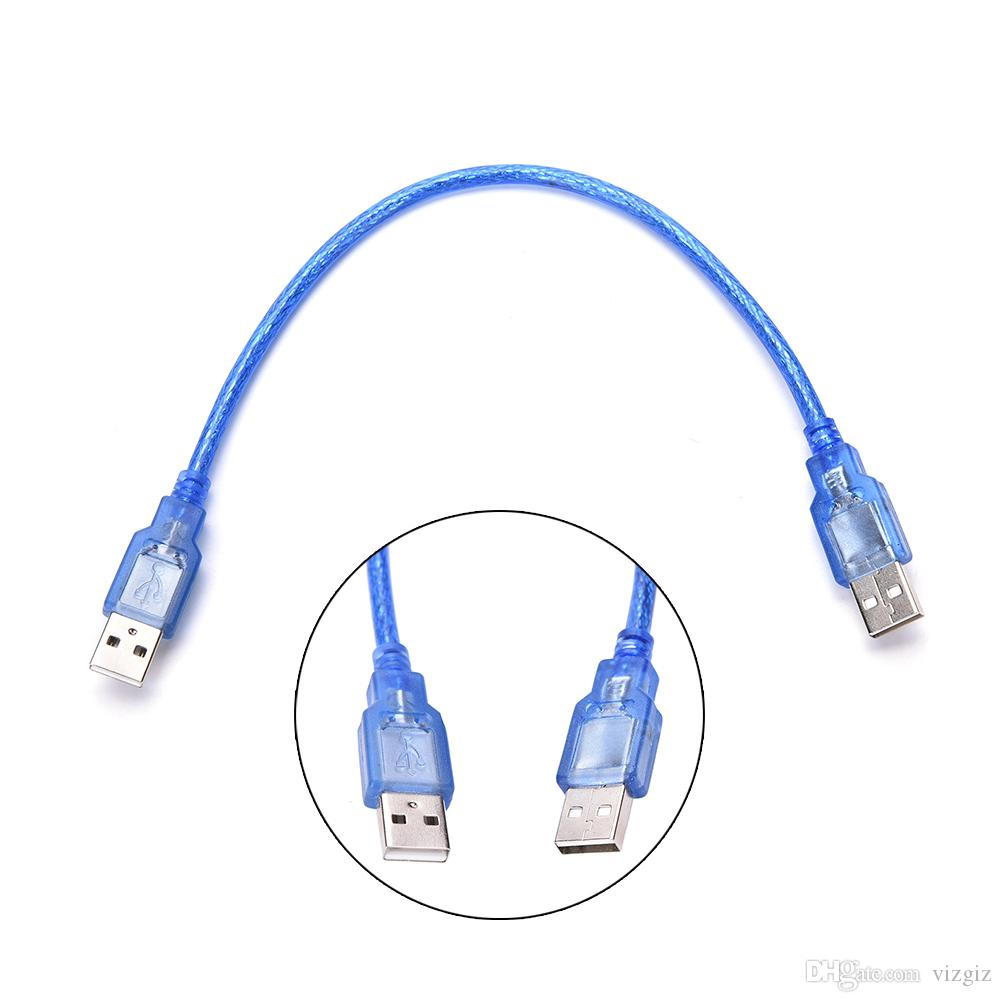 1x USB 2.0 Type A Male To USB 2.0 Male Plug Data Extension Cable Cord 1FT//30CM