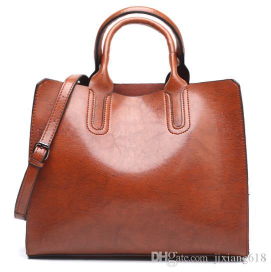 Женская сумка из вощеной кожи 2019 новая женская сумка Европейская и американская модная сумка через плечо