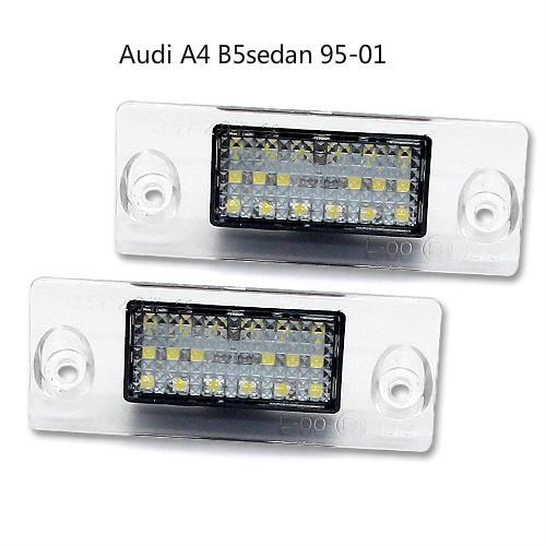 matrícula del coche LED lámparas para Audi A4 95-01 B5sedan del precio de fábrica llevó la luz de la matrícula 13.5V 6000K