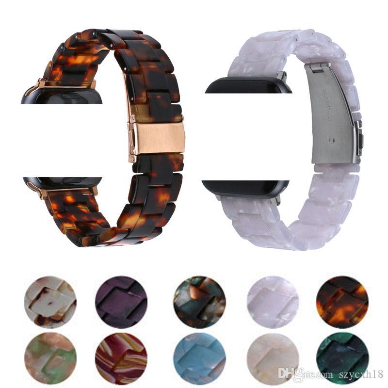 Elma İzle 5 jenerasyon kayışları 38mm 40mm 42mm 44mm iwach Gruplar 5 4 3 2 1 Tasarımcı kordonlu saat moda Bilezik İçin Lüks seyretmek grubu Reçine