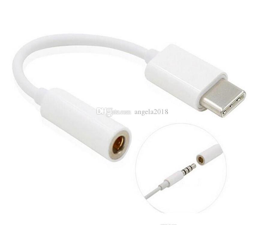 Hot Type-C a 3.5mm auricolari cavo adattatore USB Type C-C maschio a femmina Jack USB 3.1 Adapter cavo audio per Smartphone