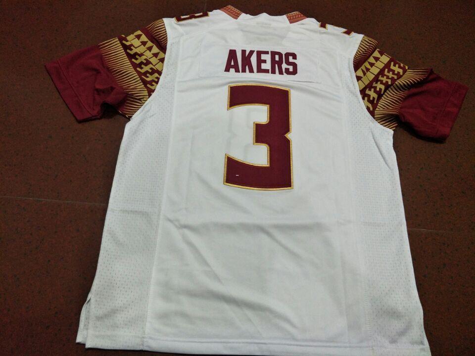 Männer FSU Seminoles Cam Akers # 3 echte Vollstickerei College Jersey Größe S-4XL oder benutzerdefinierte beliebiger Name oder Nummer Jersey