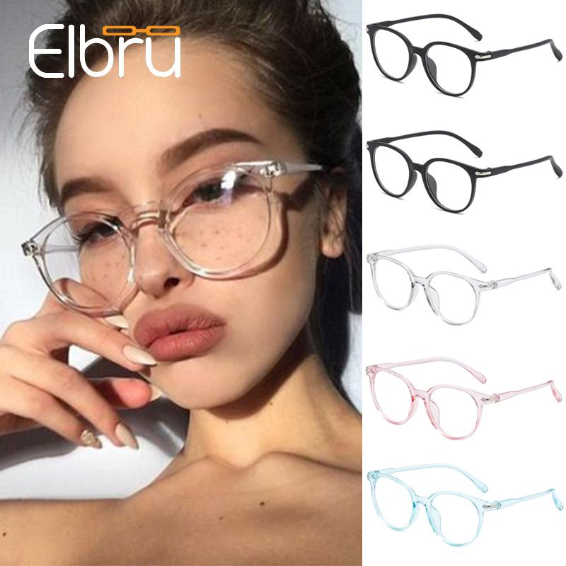 Elbru optiques Cadres Lunettes pour Femmes Hommes Ultraléger Lunettes Cadre Femmes Hommes oculos Transparent Rose Noir Bleu