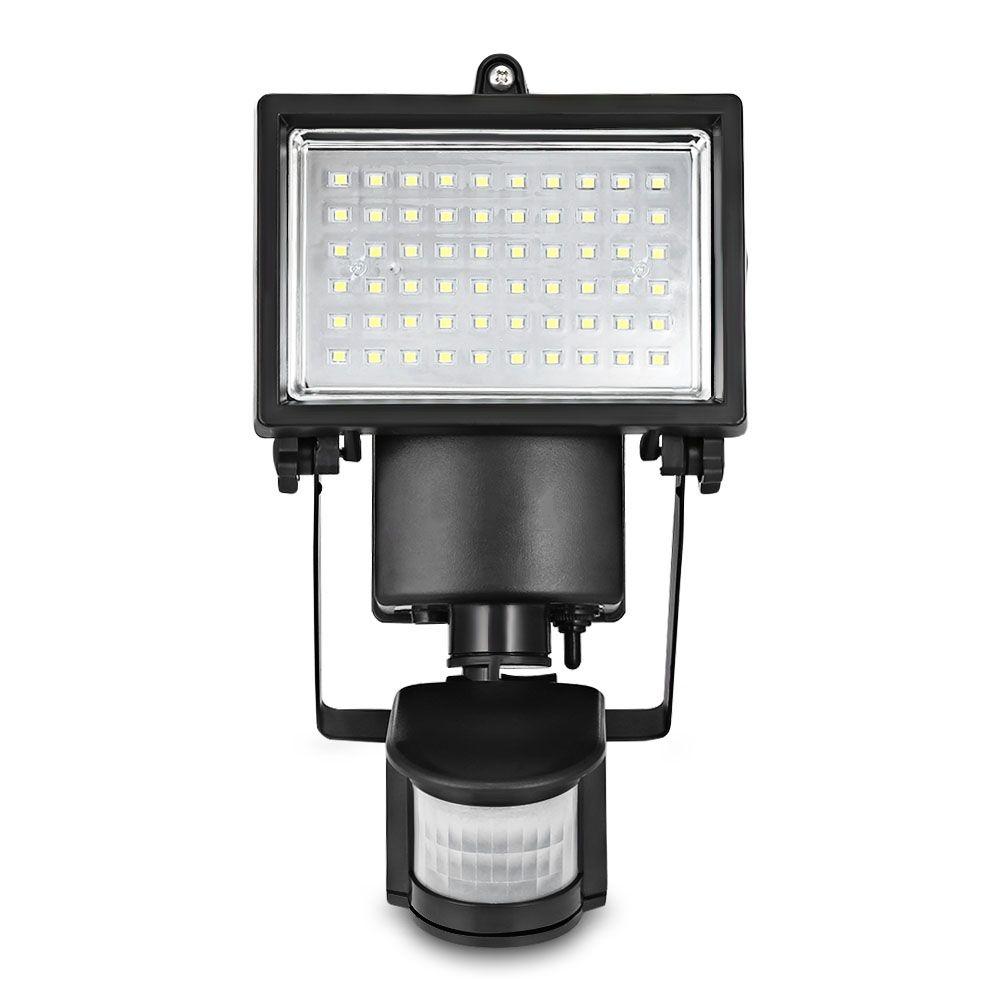 LED Süper Parlak Su Geçirmez Powered PIR Hareket Dedektörü Kapı Duvar Lambası Işık