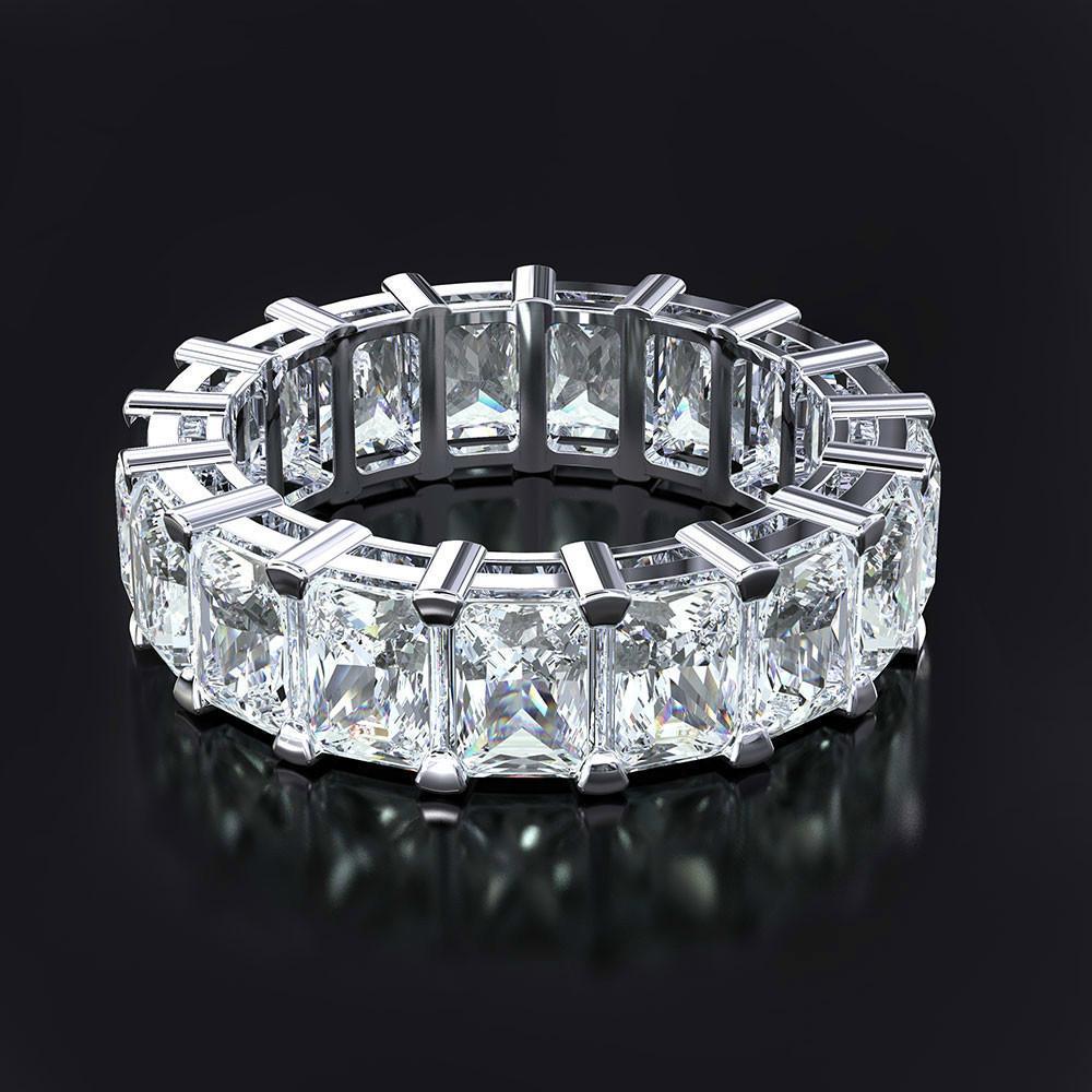 2020 Promise ring 925 ayar Gümüş Prenses kesim Parti düğün Band Yüzükler kadınlar Için gelin Moda Takı