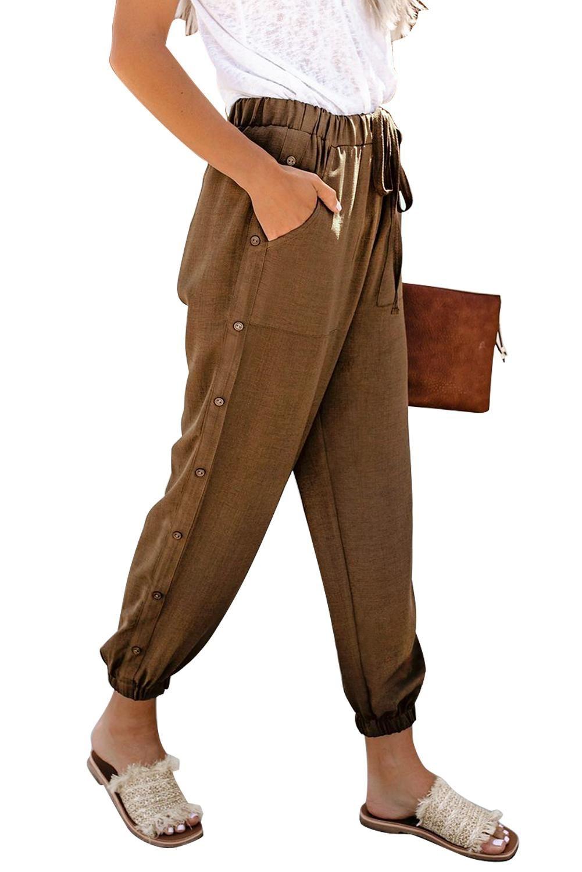 Dear Lover 2020 Articoli Abbigliamento Donna Freeshipping in azione all'ingrosso pantaloni marroni On The Run intascato