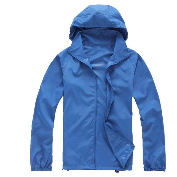 Secagem rápida de homens das mulheres Outdoor Sports Casual impermeável pele Anti UV Revestimentos Coats Windbreaker Black White Plus Size 3XL fz0126