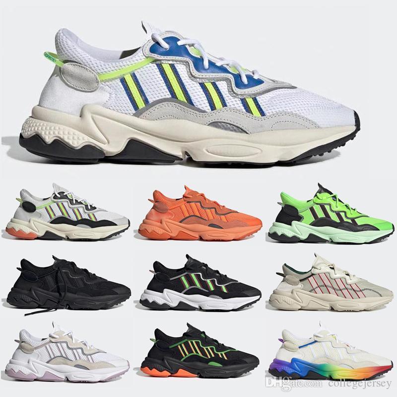 Scarpe da corsa Ozweego orgoglio per le donne Mens olio Cloud White solare giallo neon verde Halloween Tones triple nero allenatore sportivo Sneakers