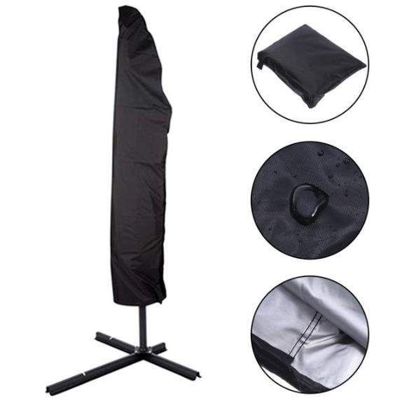 Ex Large ZIP Parasol Cover Banana Cantilever Water Resistant Quality Rain Proof