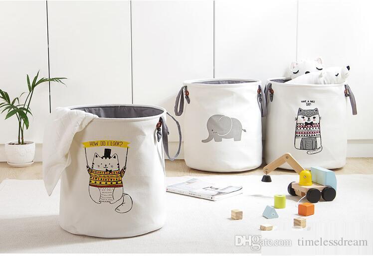 EVA tela pieghevole cesto della biancheria del fumetto di stoccaggio barile secchio in piedi giocattolo abbigliamento secchio di stoccaggio lavanderia organizzatore di vestiti titolare