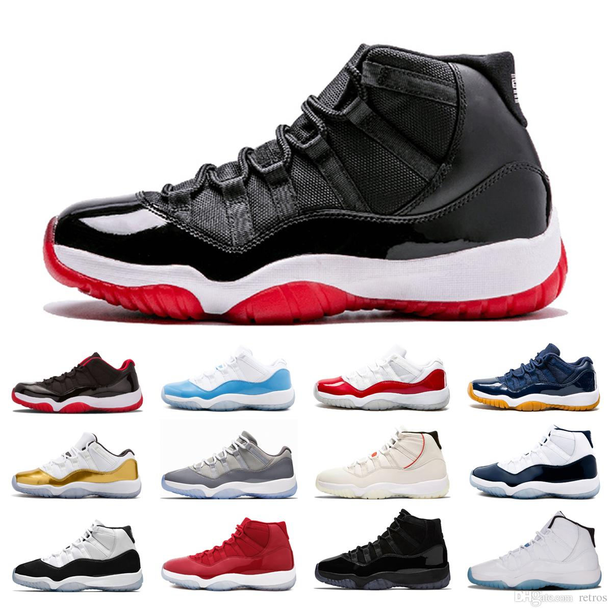 XI 11s bred Concord 45 Platinum Tint Basketball Shoes WIN LIKE 82 96 Cool Grey Legend Blue 72-10 Women men sports Sneakers
