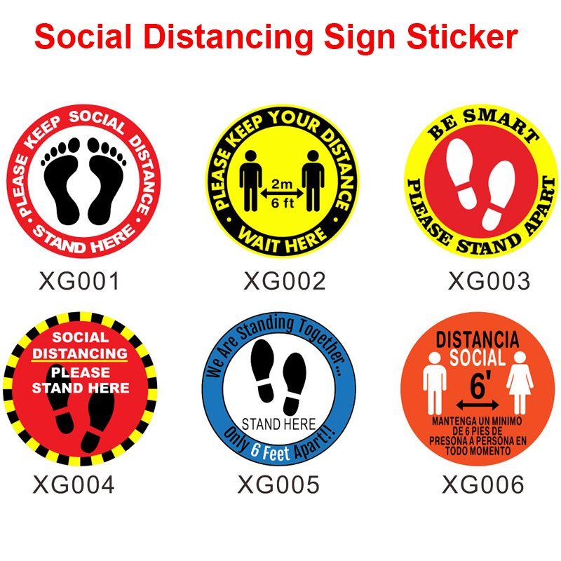 """DHL Kargo Lütfen Pratik Sosyal Mesafenin Kat İşaret 5 ADET / çok Güvenliği İşaretler 12"""" Çember Basınca Duyarlı Yapıştırıcı Yapımı X189FZ"""