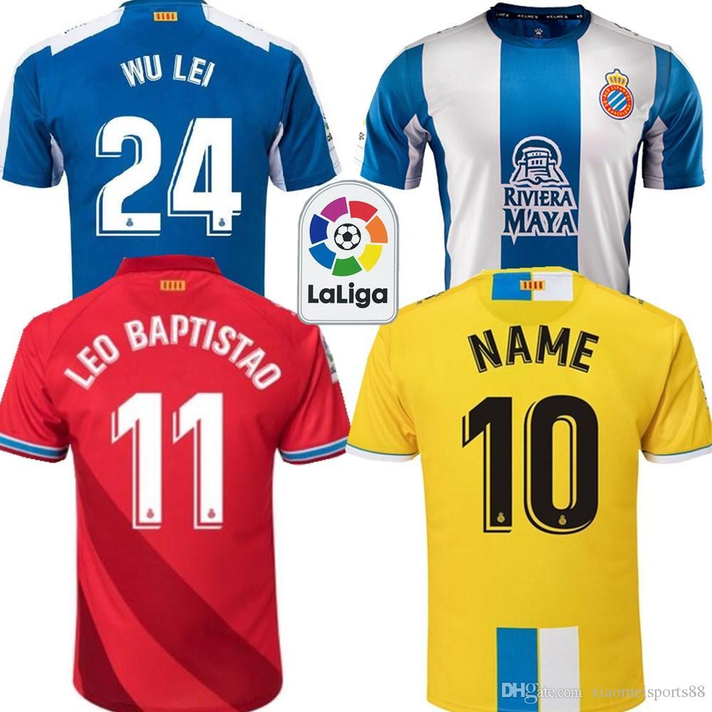 18 19 RCD Espanyol Futbol Camisa futbol formaları 2019 Espanyol Camiseta de futbol gömlek Eğlence En İyi Kalite Rahat futbol formaları
