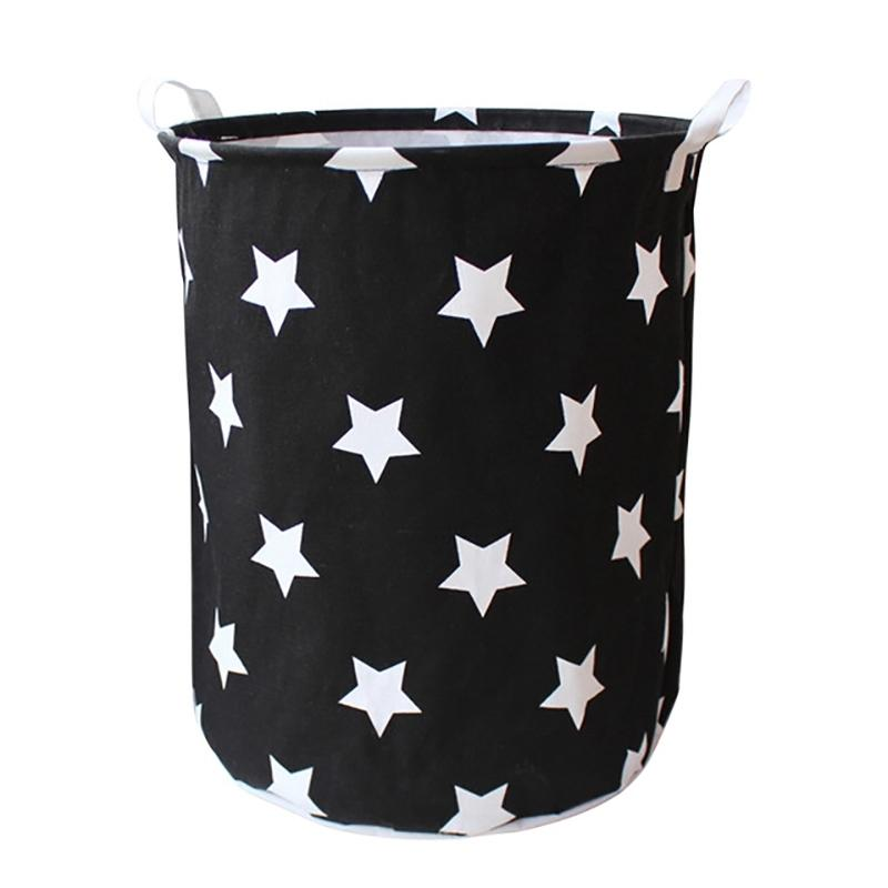 40X50Cm Folding Laundry Basket With Handle Round Storage Bin Large Hamper Collapsible Clothes Toy Laundry Holder Organizer Laundry Storage