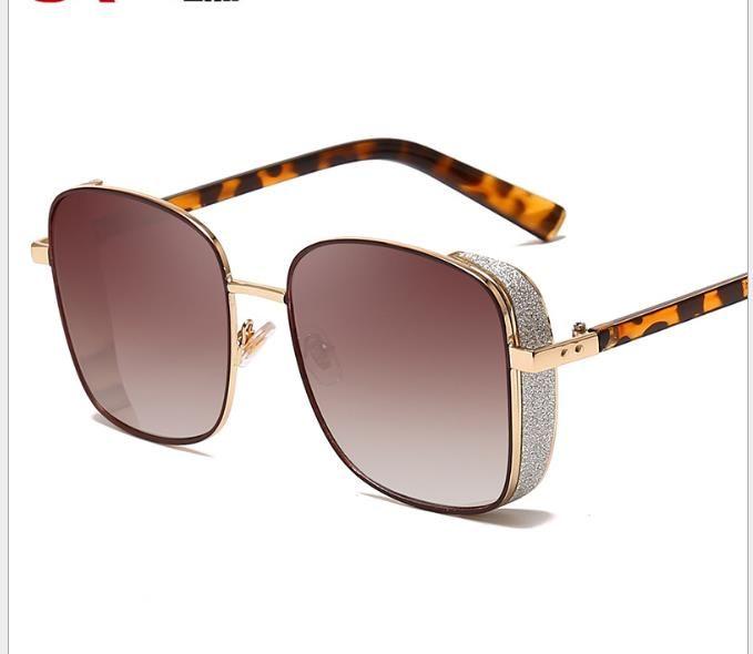 Fashion men's and women's universal sunglasses metal square Sunglasses
