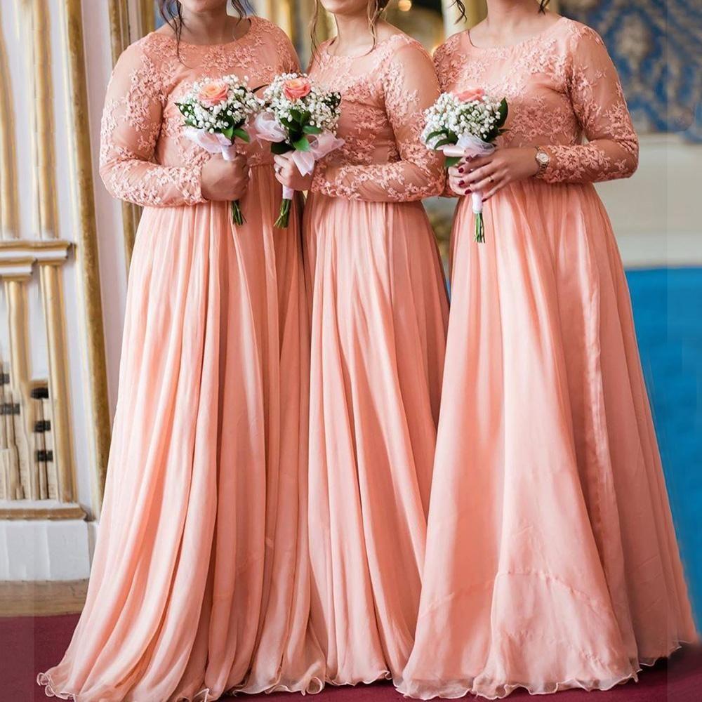 coral rose gold bridesmaid dresses 2020