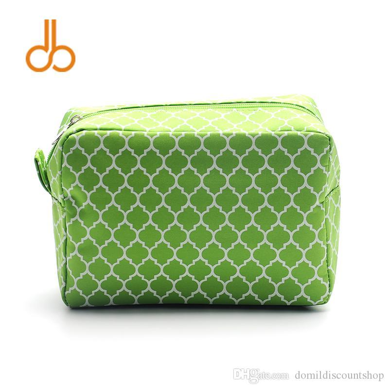 Free Shipping Wholesale Blanks Quatrefoil Cosmetic Bag Make Up Bag Waterproof Toiletry Bag Cosmetic Case in Multi ColorsDOM103011