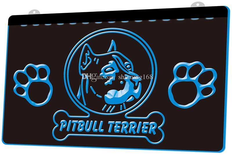 LS640-b-Pitbull-Terrier-Dog-Pet-Shop-Neon-Light-sign.jpg Décor Livraison gratuite Dropshipping 8 couleurs au choix en gros