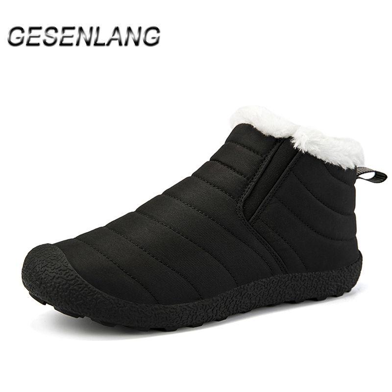 Damen-Walking-Schuhe Plus-Pelz-High Top Damen Outdoor Casual-Schnee-Aufladungen Gleitsichere Durable Komfortable warme Winter-Barfuß-Schuhe
