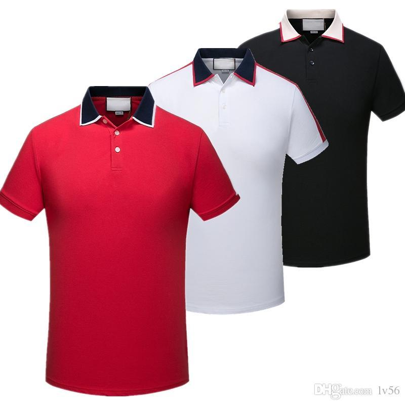2019 Italy fashion Classic Luxury designer Brand new men polo t shirts short sleeve embroidery Letter mens polos 3XL