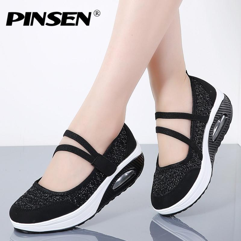 PINSEN 2019 Summer Women Flat Platform Shoes Woman Breathable Mesh Casual Shoes Moccasin Zapatos Mujer Ladies Boat Shoes SH190928