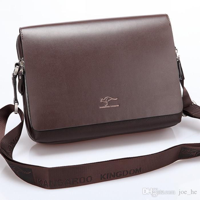 Borsa uomo in pelle di canguro Designer-Piccolo sacchetti del messaggero degli uomini di qualità ventiquattrore casuale degli uomini di moda borselli BN006-1