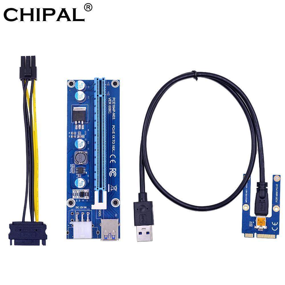 كابلات الكمبيوتر مكتب الكمبيوتر موصلات CHIPAL البسيطة PCI-E إلى PCI-E 16X بطاقة الناهض 0.6M كابل USB 3.0 لEXP GDC