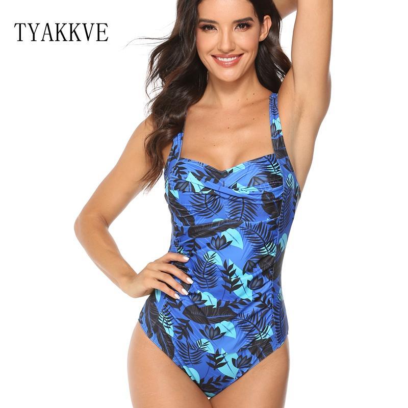 Mayo Seksi Tek Parça Bikini Artı Boyutu Mayo Kadınlar Baskı Mayo Monokini Plaj Kıyafeti Karın kontrol Swim Suit XXL