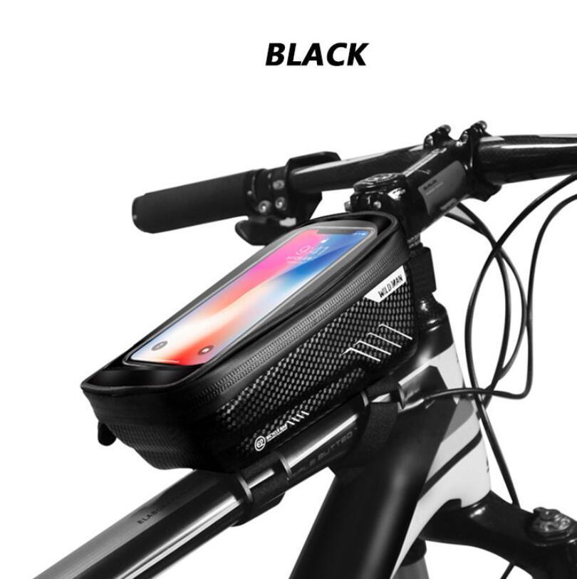 자전거 가방 전면 프레임 탑 튜브 자전거 자전거 가방 MTB 하드 산악 도로 액세서리 랙 oouch 방수 지원 스마트 폰 전화