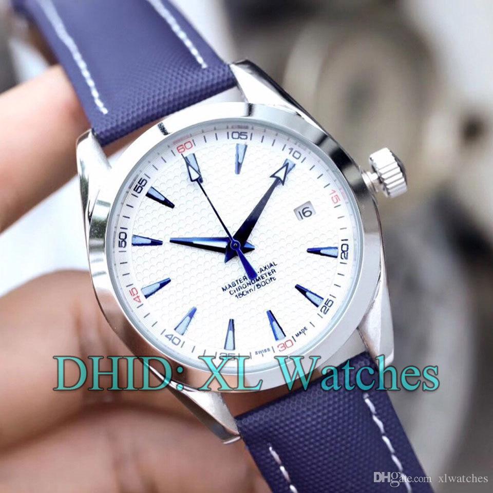 Otomatik Hareket Erkek İzle 231.92.39.21.04.001 Günlük Moda Tasarımcısı Erkek Saatler Mavi Kayış Takvim Ekran Gümüş saatı dial