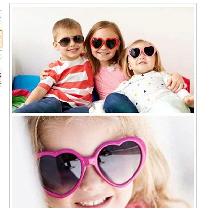 occhiali da sole di plastica bianca per il capretto lunettes de soleil en plastique rosa salmone cuore oversize a forma di occhiali da sole Retro hairclippers2011 JGASP