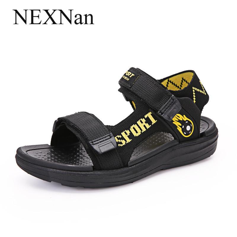 NEXNan Yaz Çocuk Sandalet Erkek Ayakkabı Kızlar Sandalet Çocuk Ayakkabıları Nefes örgü kesik Açık Okul Ayakkabı Açık burunlu