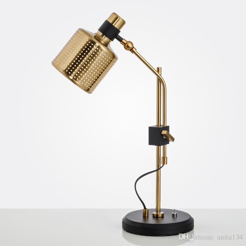 Yatak odası ev iç aydınlatma armatür için Salon Kuzey Eruope tarzı tablo aydınlatma için modern metal Masa lambası yayınla