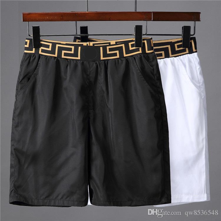 2019 shorts d'été maillot de bain maillot de bain pour homme blanc noir Medusa plage maillot de bain imperméable