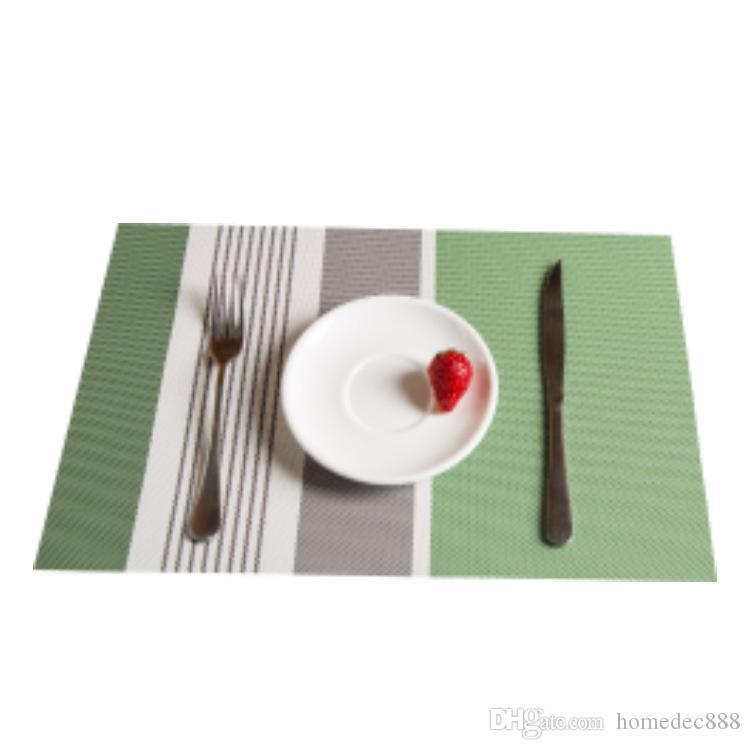 Novità in stile occidentale in PVC domestica Protezione Ambientale Mat Hotel Ciotola Mat Mat Tavolo Isolamento termico Matt 45 * 30cm DH0076