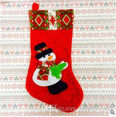 Les nouveaux sacs-cadeaux de bas de Noël de haute qualité stockage de Noël chaussettes Décorations de décoration de Noël bags1