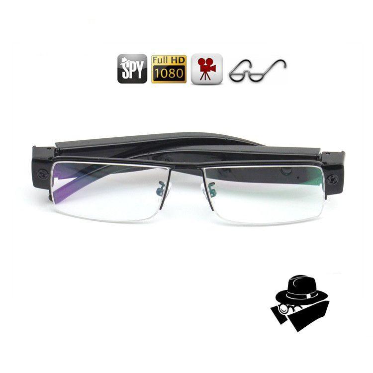 كامل HD كاميرا نظارات نظارات 1080P نظارات DVR المحمولة نظارات فيديو مسجل نظارات كاميرا دعم ما يصل إلى 32GB أسود في المربع