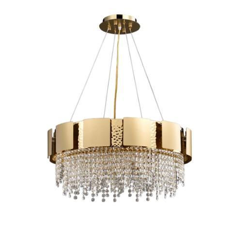 lustre de cristal moderno para sala de cristal de luxo lâmpada ouro lustre de aço inoxidável dinning iluminação LLFA