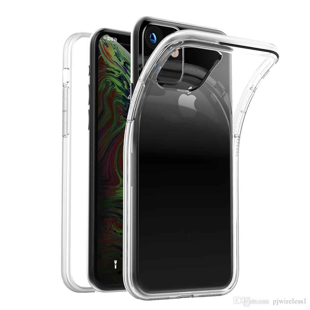 Stock For iphone 12 11 6.1 2019 11 Pro 2MM Soft TPU Clear Shock Absorbing Protective Phone Case Cover A